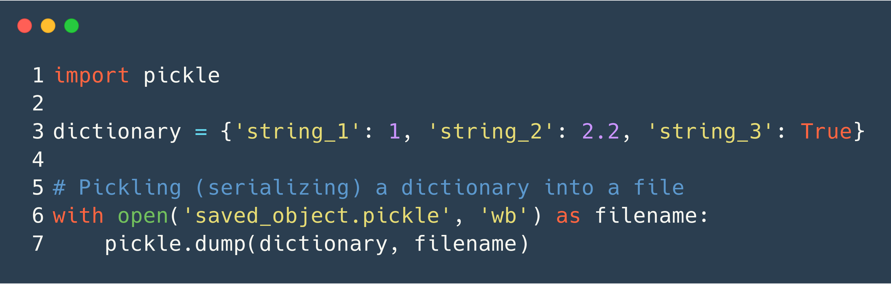 How to Save Dictionaries, Lists, Tuples and Other Objects