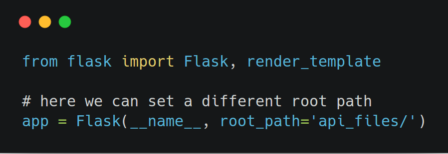 Set Flask Root Path